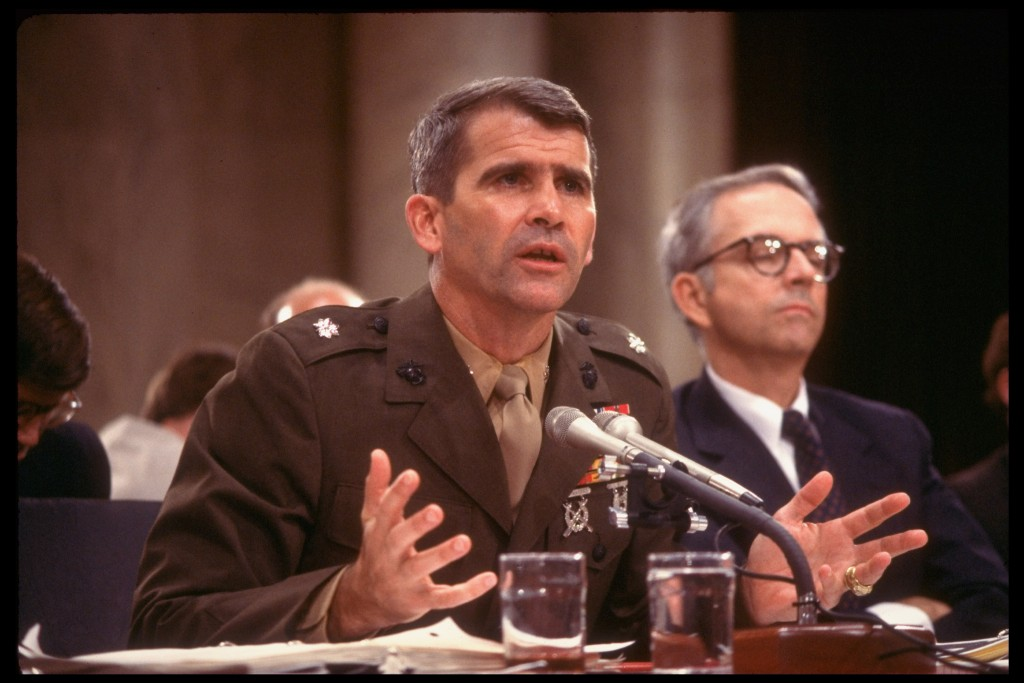 Iran-Contra hearings, Oliver North