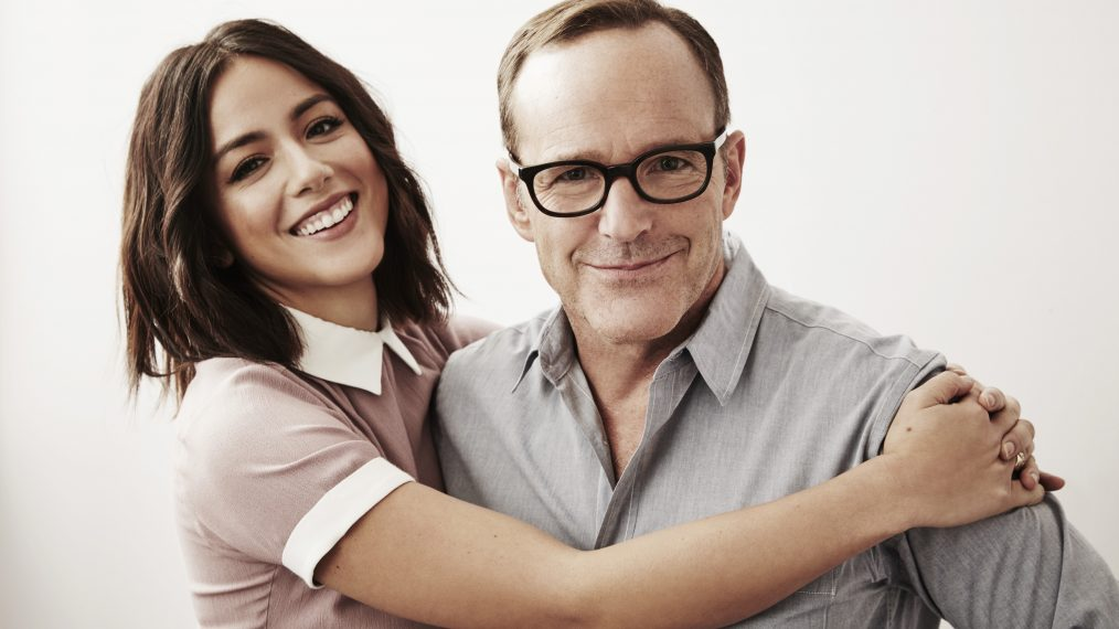 Chloe Bennet and Clark Gregg