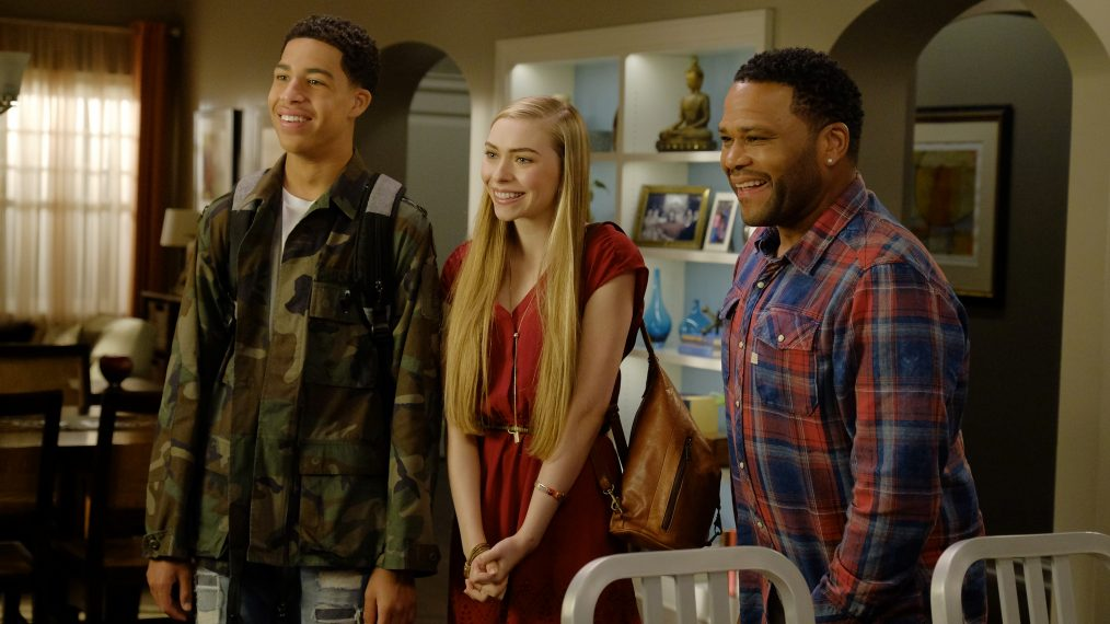 "BLACK-ISH - ""Being Bow-racial"" (ABC/Tony Rivetti) MARCUS SCRIBNER, ANNELISE GRACE, ANTHONY ANDERSON"