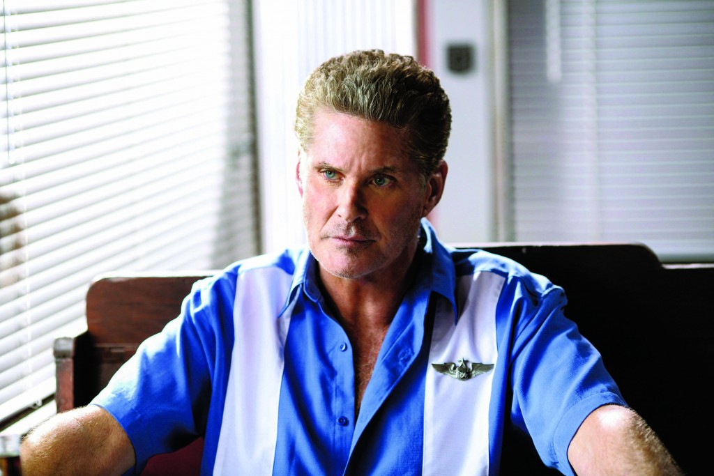 SHARKNADO 3: OH HELL NO! -- Pictured:  David Hasselhoff as Gilbert Shepard -- (Photo by: Raymond Liu/Syfy)