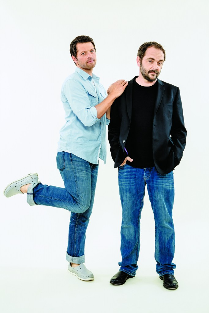 Misha Collins, Mark Sheppard, supernatural, comic con