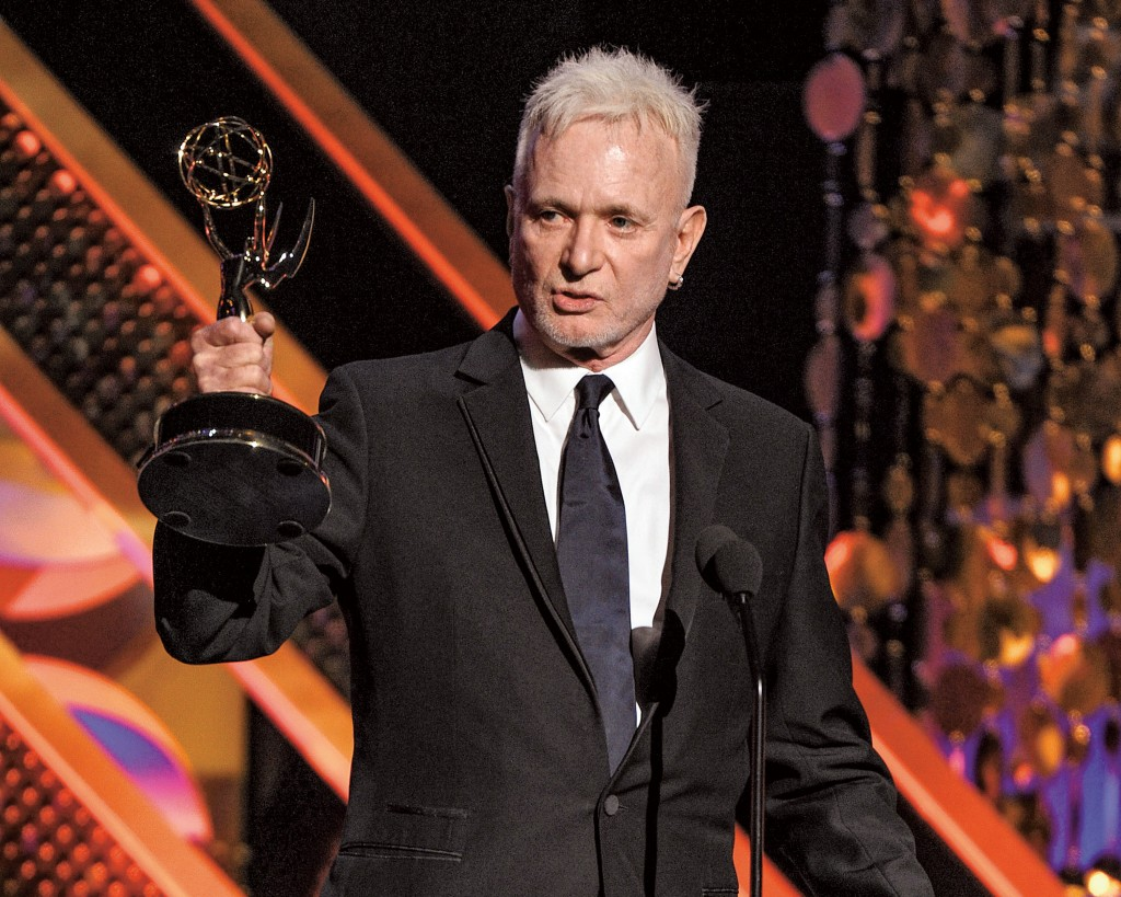 BURBANK, CA - APRIL 26: Anthony Geary accepts the award for Actor - Drama Series on the 42nd Annual Daytime Emmy Awards at the Warner Bros. Studio Lot on April 26, 2015 in Burbank, California. (Photo by Frank Micelotta/PictureGroup)