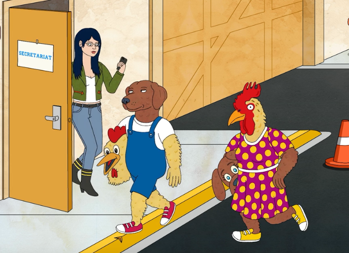 BoJack Horseman Chicken and Dog Costumes
