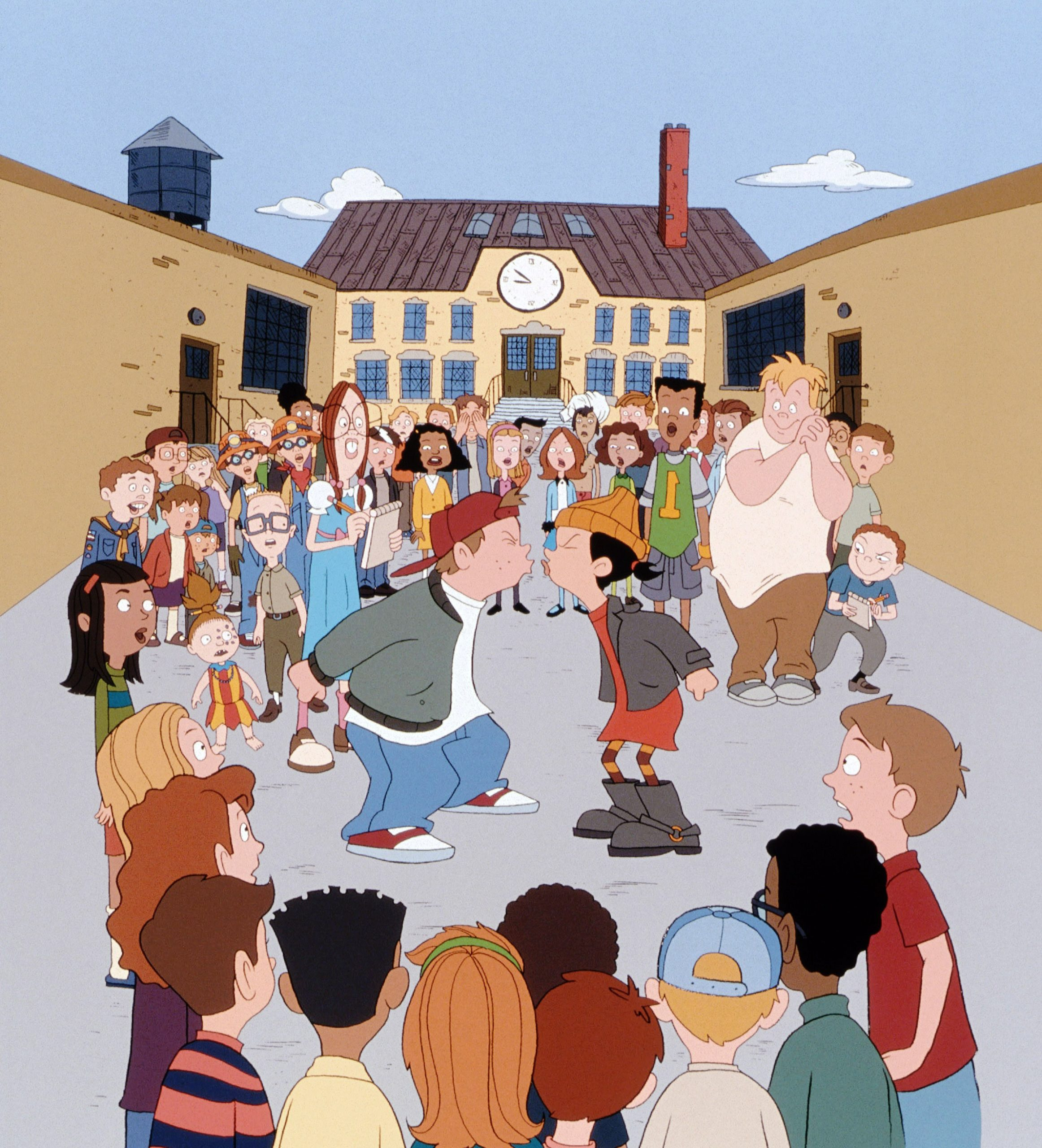 RECESS, T.J. Detweiler (center, left), Ashley Spinelli (center, right), 1997-2001. © Walt Disney Tel
