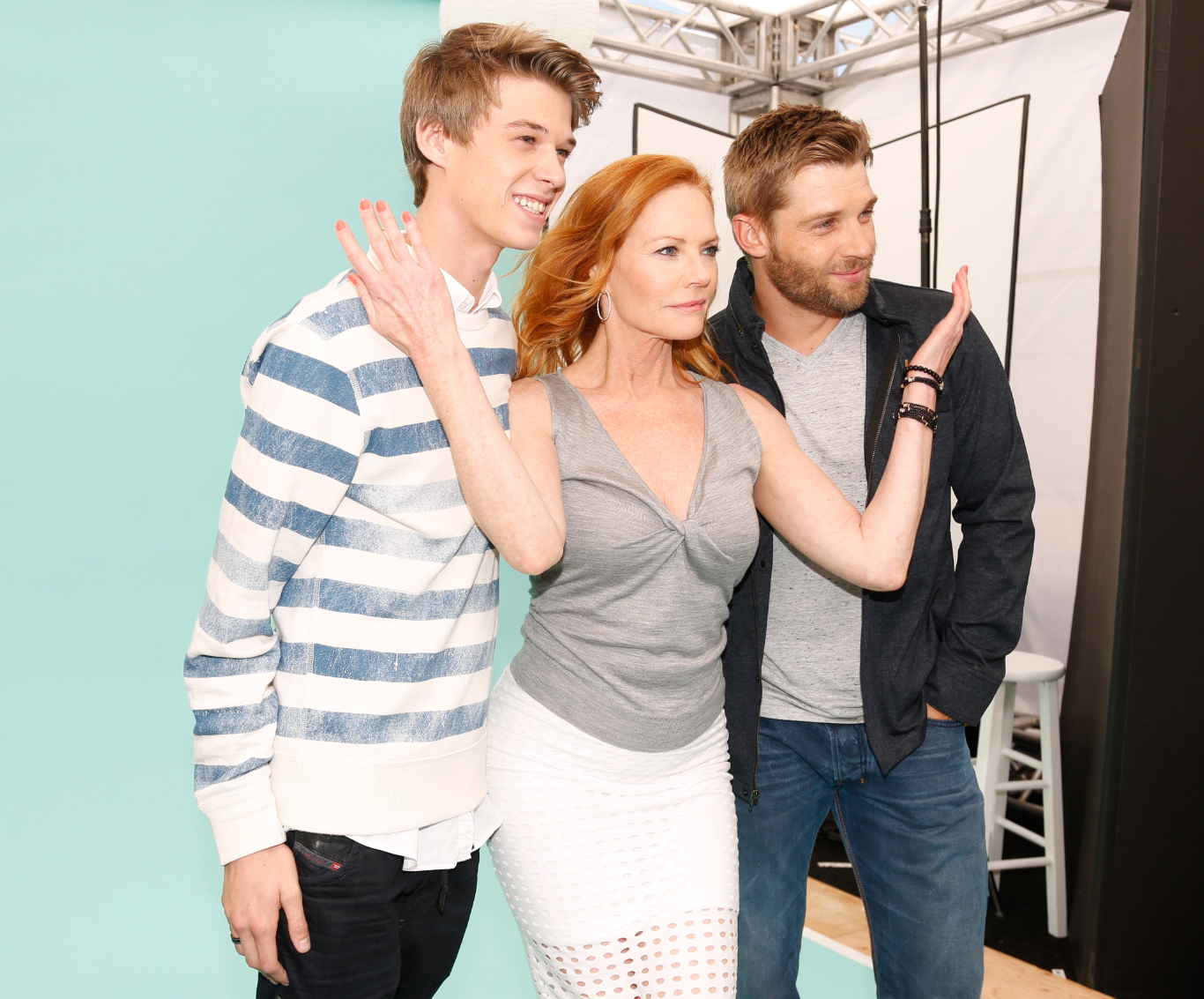 Colin Ford, Marg Helgenberger, Mike Vogel of Under the Dome