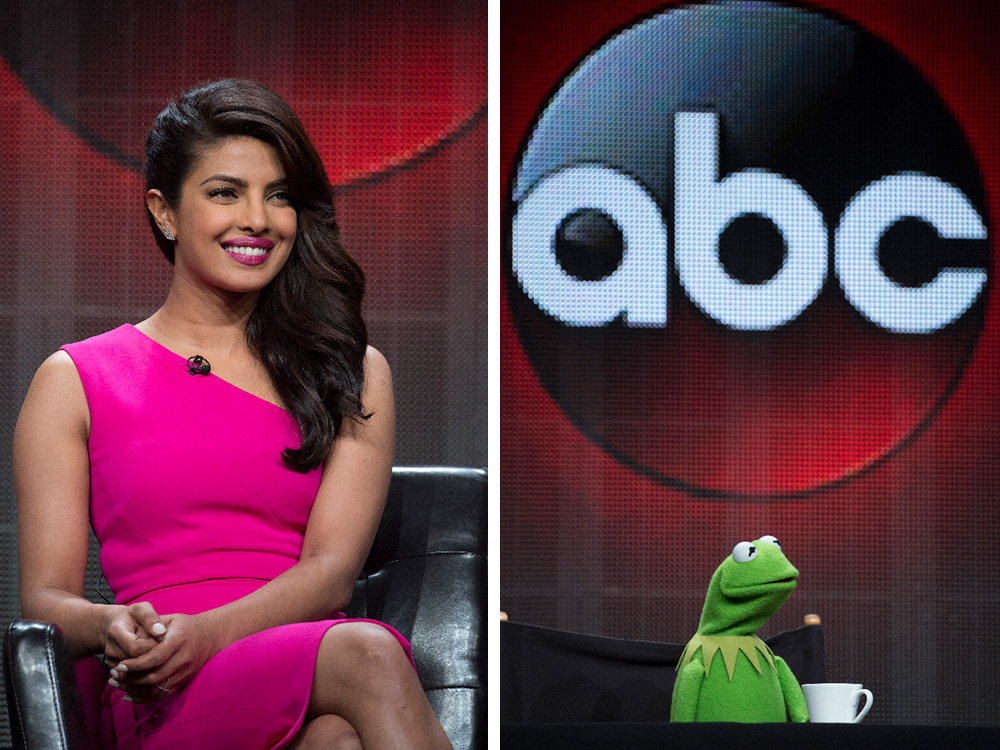 Priyanka Chopra and Kermit the Frog