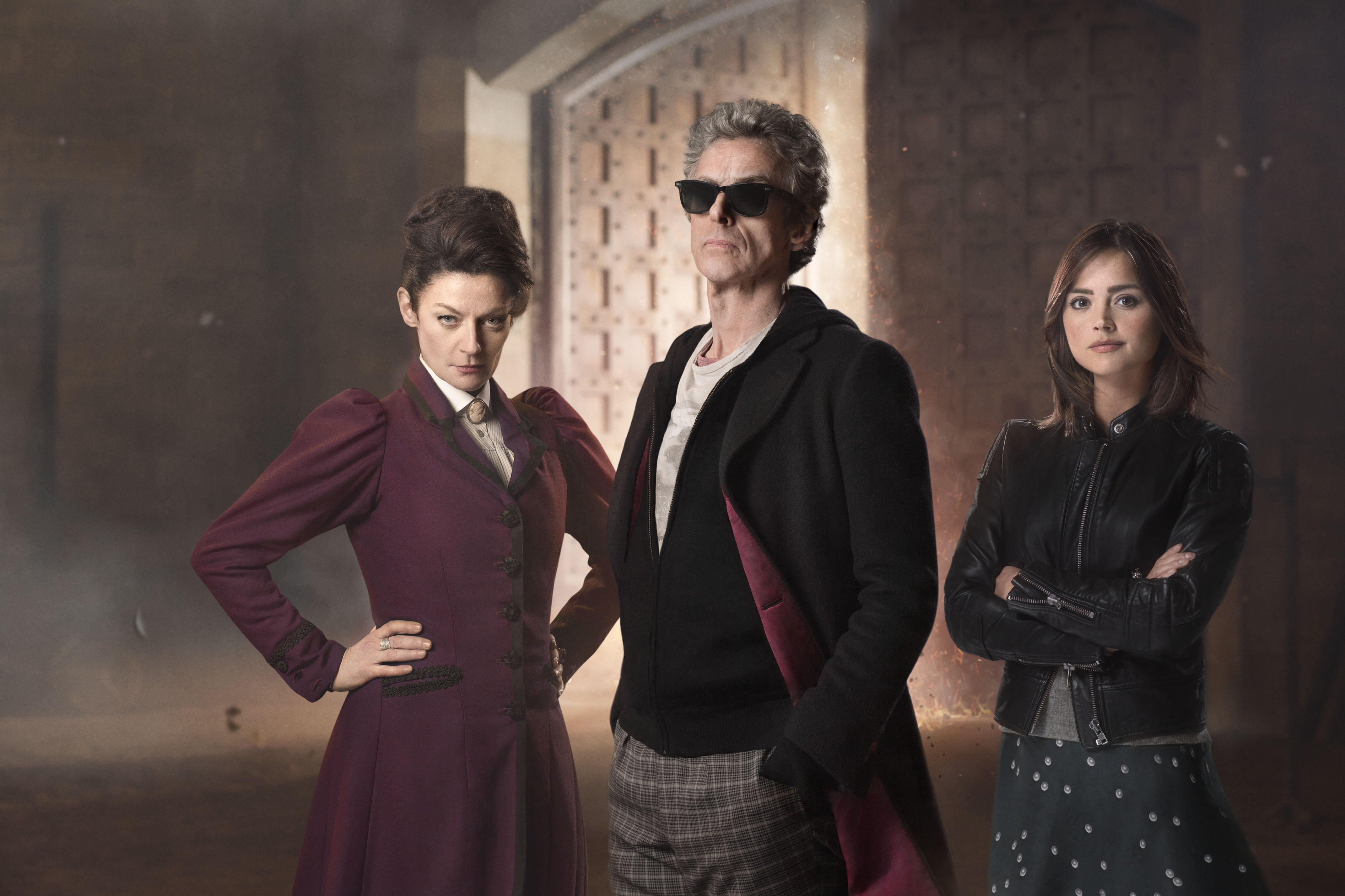 Peter Capaldi, Jenna Coleman, Michelle Gomez - Doctor Who