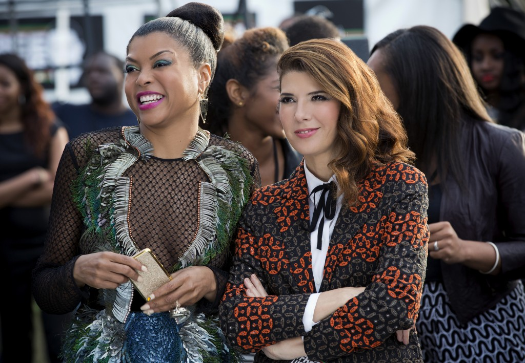 "EMPIRE: Pictured L-R: Taraji P. Henson as Cookie Lyon and guest star Marisa Tomei as Mimi Whiteman in the ""The Devils Are Here"" Season Two premiere episode of EMPIRE airing Wednesday, Sept. 23 (9:00-10:00 PM ET/PT) on FOX.  ©2015 Fox Broadcasting Co. Cr: Chuck Hodes/FOX."
