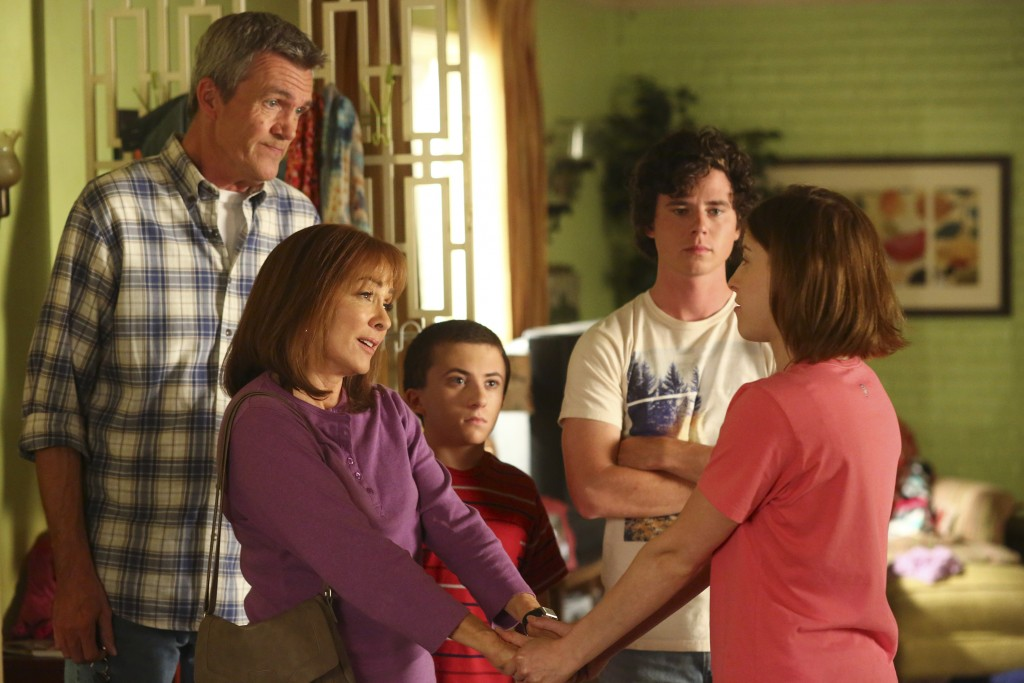 "THE MIDDLE - ""Episode 701"" (ABC/Michael Ansell) NEIL FLYNN, PATRICIA HEATON, ATTICUS SHAFFER, CHARLIE MCDERMOTT, EDEN SHER"