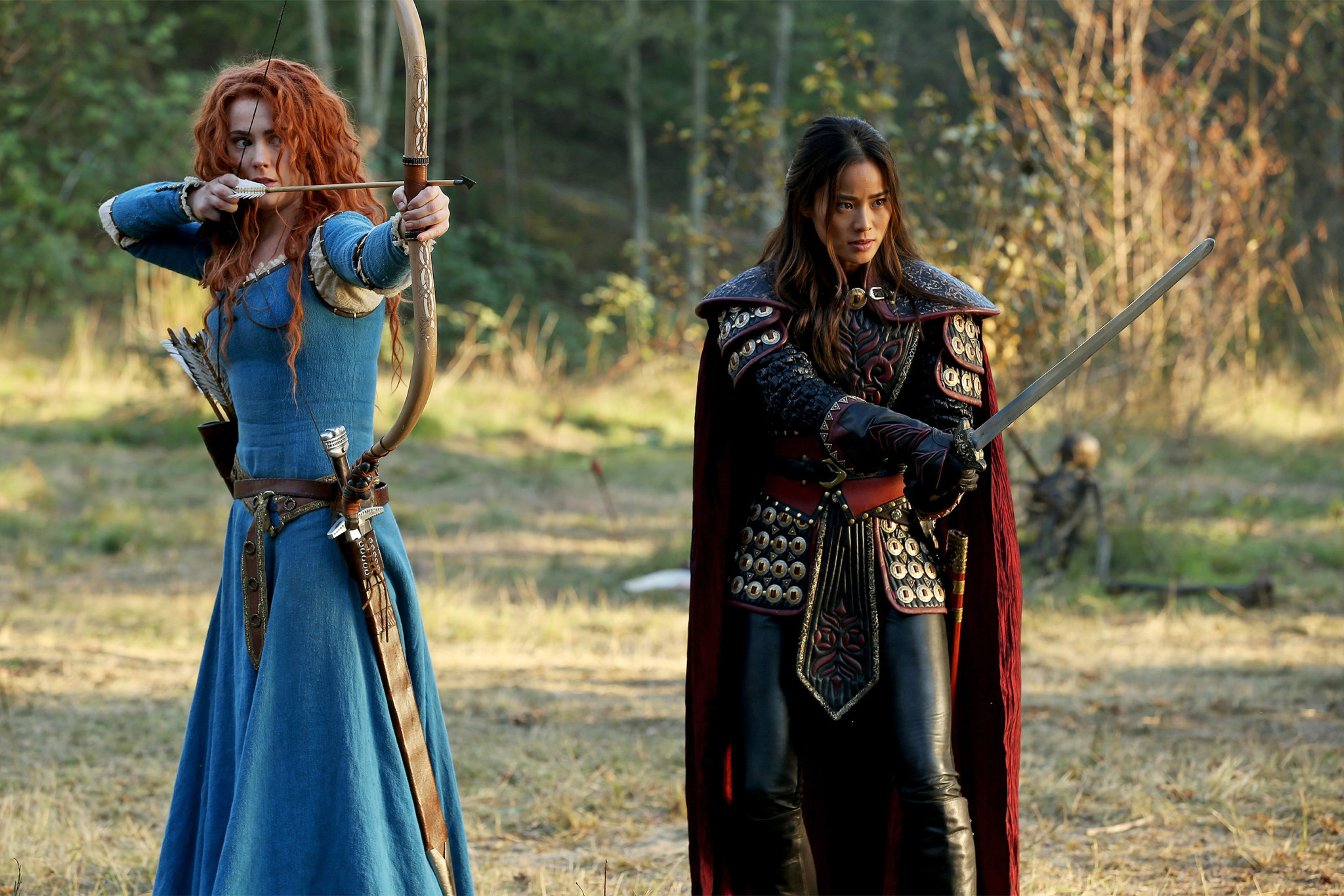 Amy Manson Once Upon A Time here's what happens when merida meets mulan on once upon a