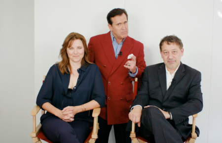 Ash vs. Evil Dead cast - Bruce Campbell, Lucy Lawless, Sam Raimi