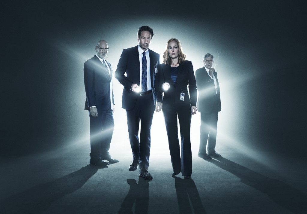 X-Files Cast Mulder, Scully, Skinner, Cigarette Smoking Man
