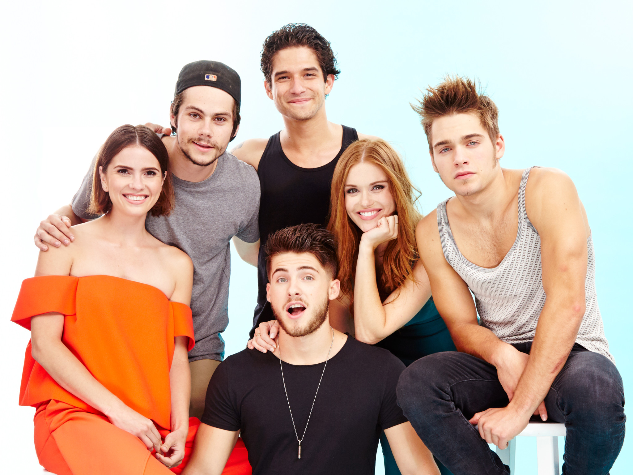 Shelley Hennig, Dylan O'Brien, Tyler Posey, Holland Roden, Dylan Sprayberry, Cody Christian, Teen Wolf