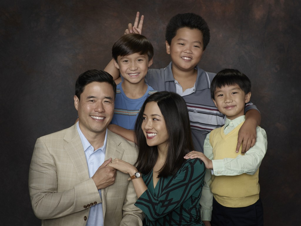 RANDALL PARK, FORREST WHEELER, CONSTANCE WU, HUDSON YANG, IAN CHEN, fresh off the boat, upfront