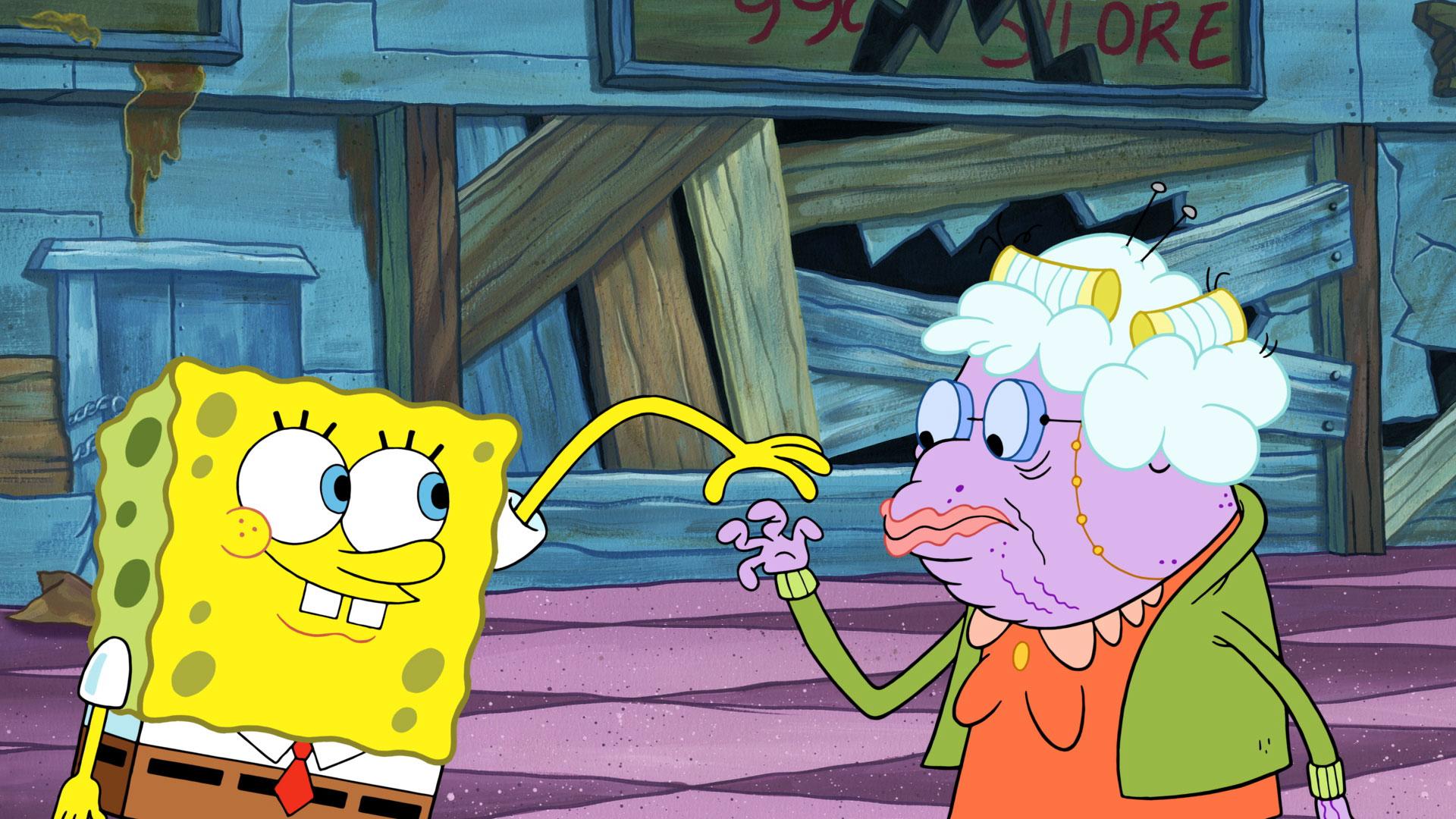Betty White Gives A Sparkle To Spongebob Squarepants