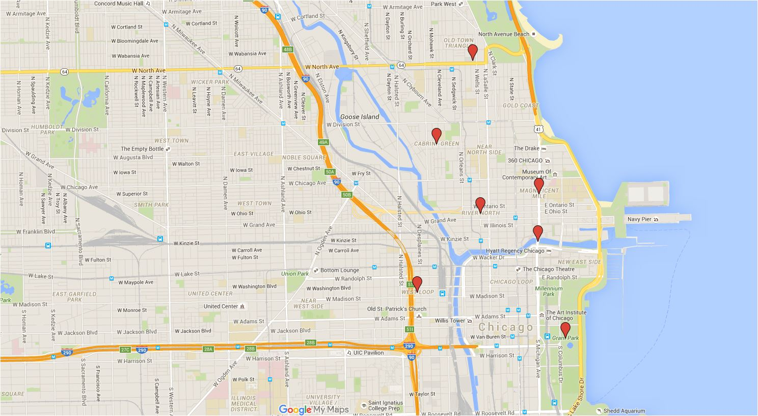 Chicago Seen on TV: An Interactive Map of Windy City Shows