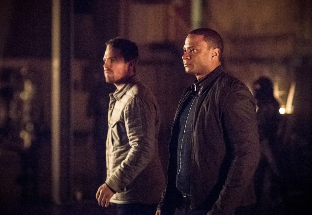 Arrow, Stephen Amell, David Ramsey