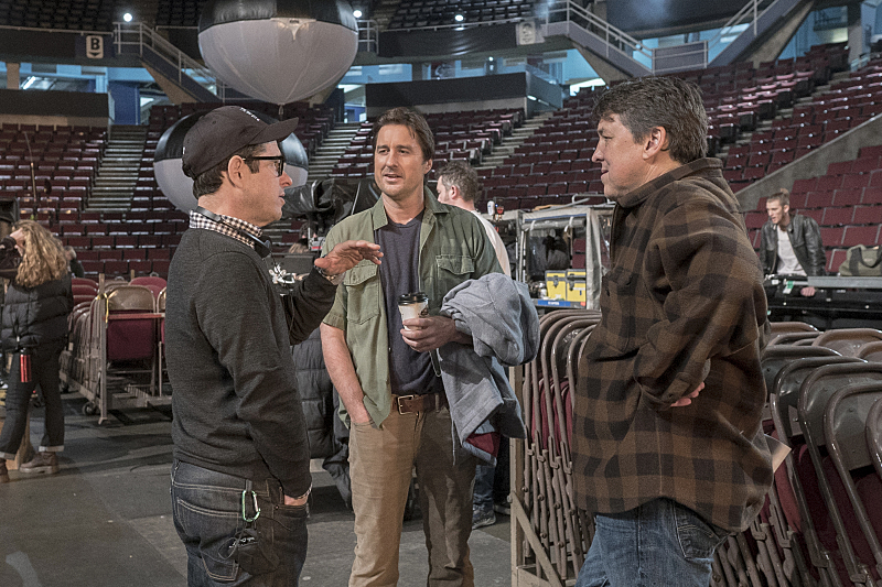 J.J. Abrams, Luke Wilson and Cameron Crowe