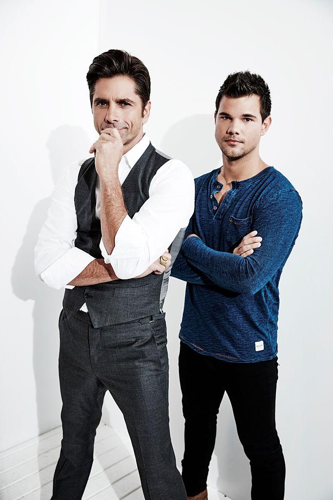 John Stamos and Taylor Lautner