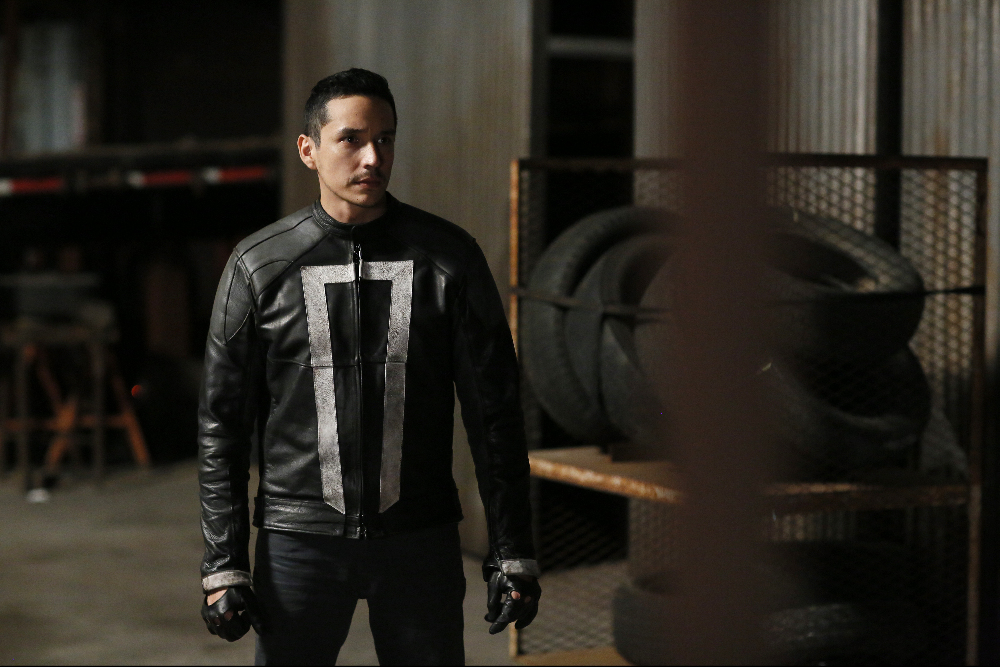 "MARVEL'S AGENTS OF S.H.I.E.L.D. - ""The Ghost"" - In the season premiere episode, ""The Ghost,"" Ghost Rider is coming, and S.H.I.E.L.D will never be the same. ""Marvel's Agents of S.H.I.E.L.D."" returns with a vengeance for the fourth exciting season in an all-new time period, TUESDAY, SEPTEMBER 20 (10:00-11:00 p.m. EDT), on the ABC Television Network. (ABC/Jennifer Clasen) GABRIEL LUNA"