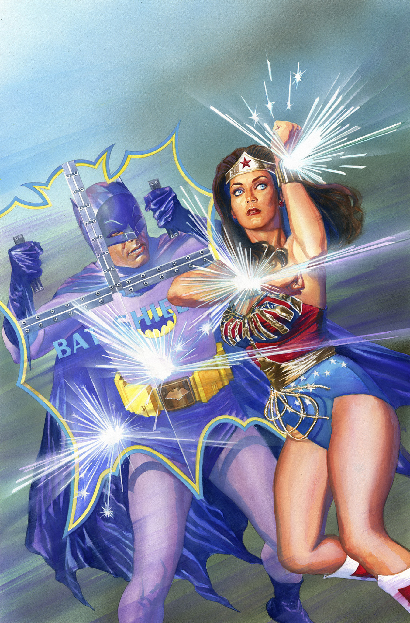 Batman '66 Meets Wonder Woman '77 issue No. 1, variant cover by Alex Ross