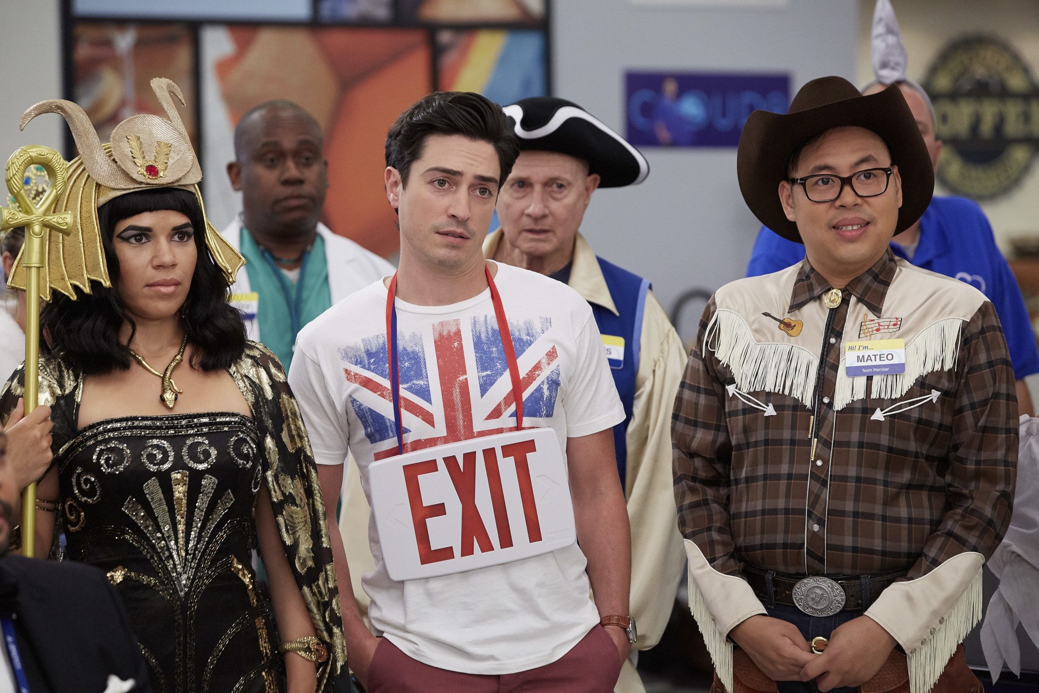 superstore: the cloud 9 staff gets in the halloween spirit – tv insider