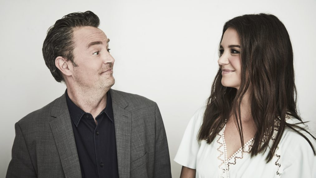 Matthew Perry and Katie Holmes