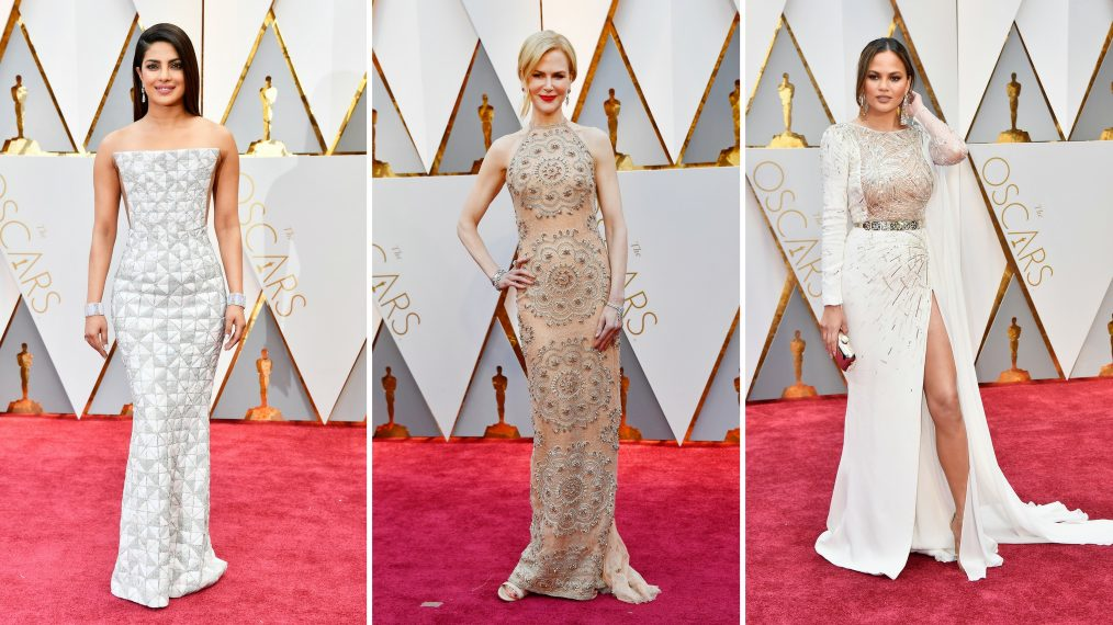 Oscars 2017 Fashion: All That Glitters Is Gold, White and Silver