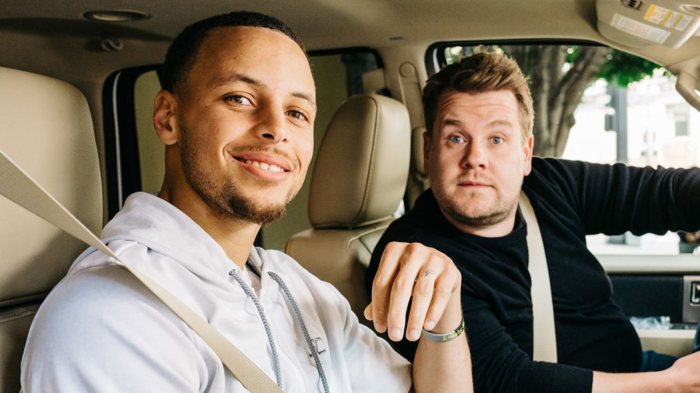 Stephen Curry, James Corden