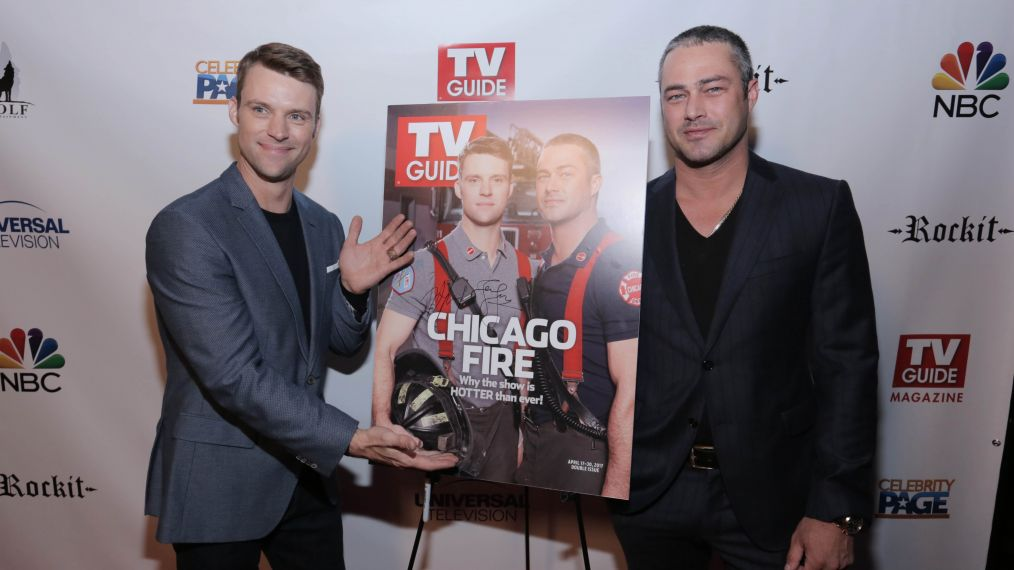 Taylor Kinney and Jesse Spencer Heat Up TV Guide Magazine's Cover Party