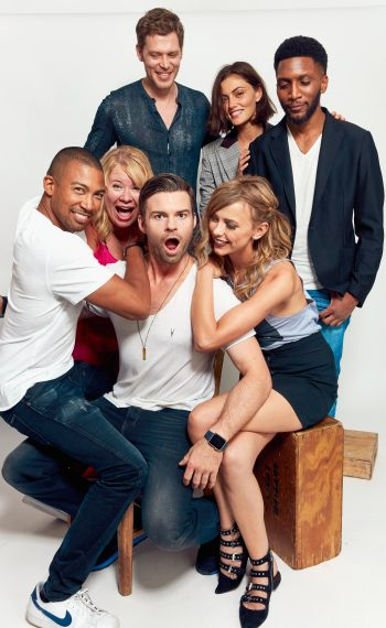 The Originals - Joseph Morgan, Phoebe Tonkin, and Yusuf Gatewood, Charles Michael Davis, Julie Plec, Daniel Gillies and Leah