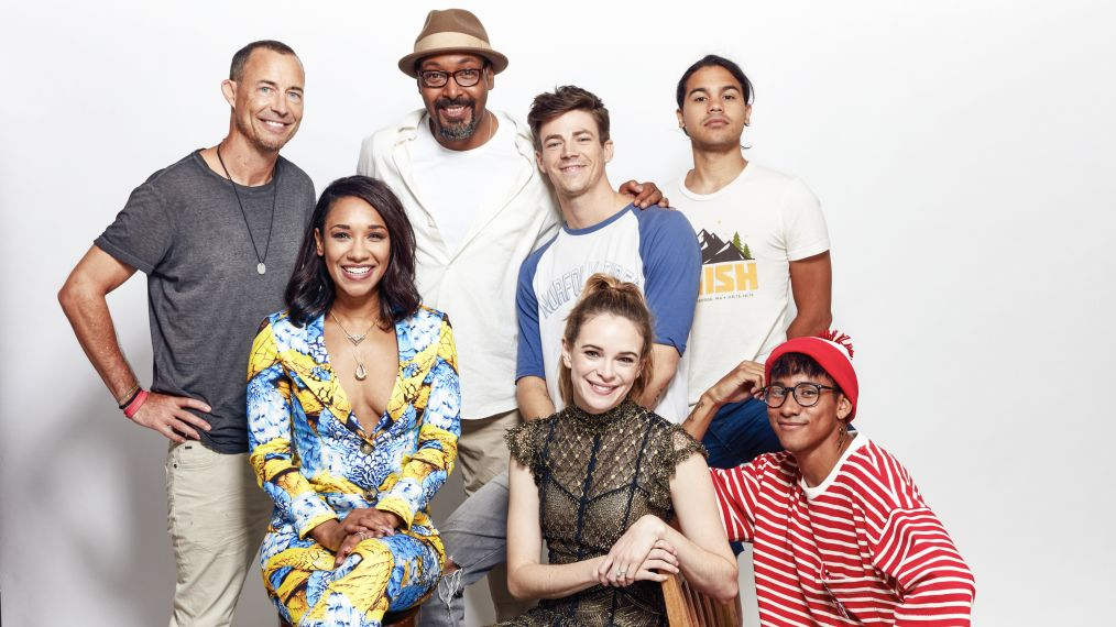Watch: Team 'Flash' Talks Speed Force, Iris's New Role and the Family Jokester