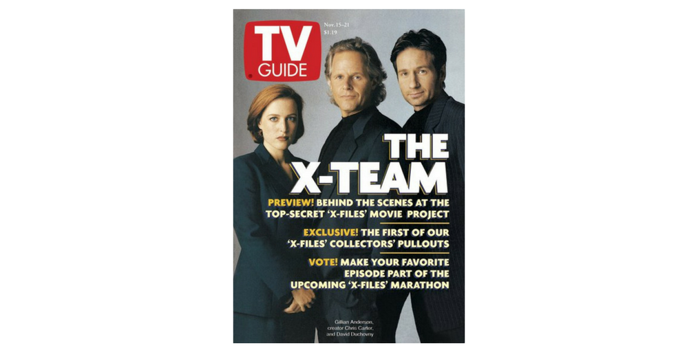 The X-Files on the Cover of TV Guide Magazine