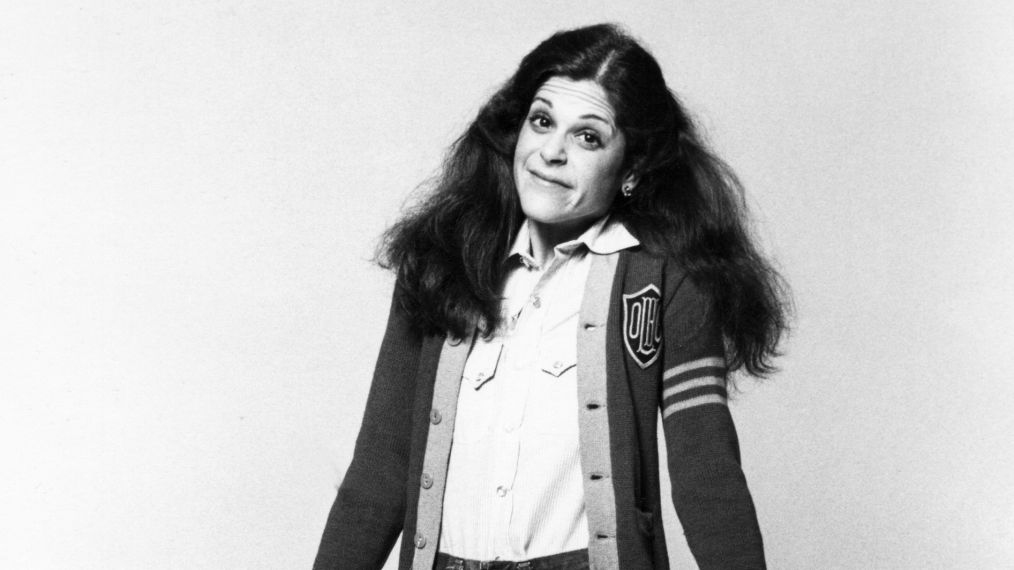Portrait of American actress and comedienne Gilda Radner (1946 - 1989) as she poses against a white background, New York, New York, late 1970s. (Photo by Anthony Barboza/Getty Images)