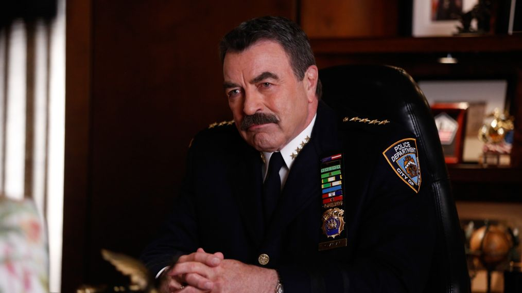 Blue Bloods - Tom Selleck - ÒThe Greater GoodÓ Ð DannyÕs world is rocked when Robert Lewis (Michael Imperioli) in the Attorney GeneralÕs office obtains new evidence against him in the self-defense shooting case of serial killer Thomas Wilder. Also, Jamie and Eddie respond to a car crash involving a high-profile drunk driver, and Frank is asked by Grace Edwards (Lori Loughlin), the wife of a slain police officer, to keep her only son out of the police force, on the seventh season premiere of BLUE BLOODS, Friday, Sept. 23 (10:00-11:00 PM, ET/PT) on the CBS Television Network. Pictured: Tom Selleck.