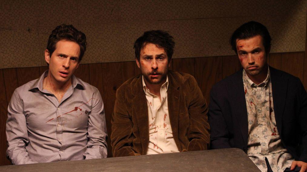 IT'S ALWAYS SUNNY IN PHILADELPHIA, l-r: Glenn Howerton, Charlie Day, Rob McElhenney in 'Maureen Pond