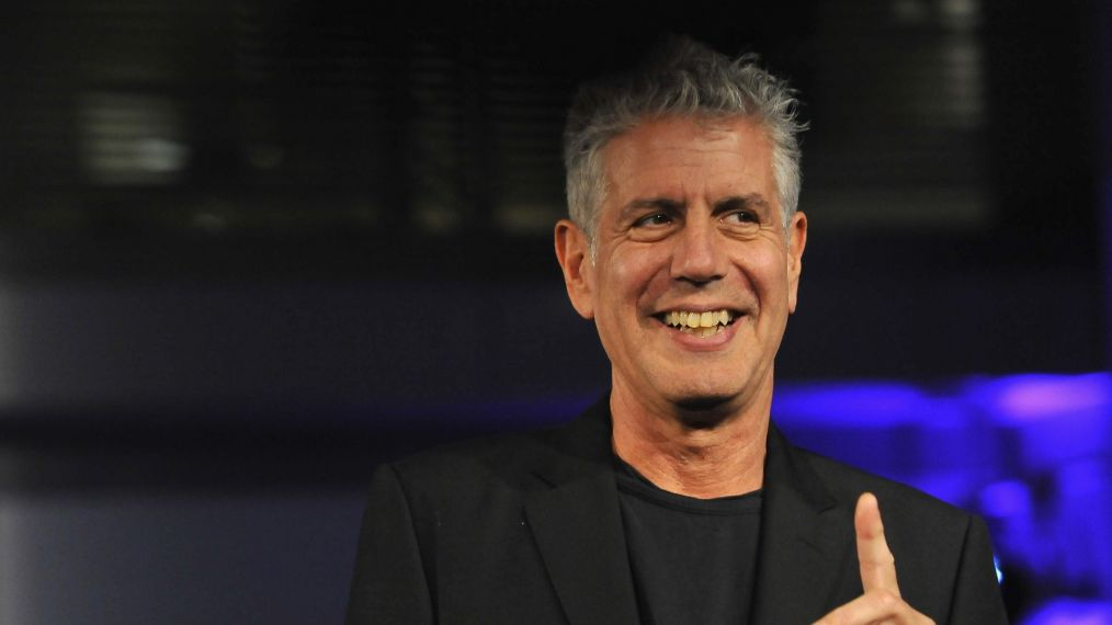 WASHINGTON, DC - NOVEMBER 11: Host Athony Bourdain speaks on stage during the DC Central Kitchen's Capital Food Fight event at Ronald Reagan Building on November 11, 2014 in Washington, DC. (Photo by Larry French/Getty Images for DC Central Kitchen)