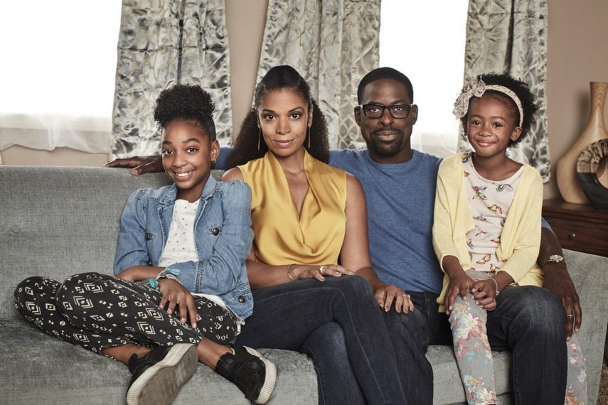 THIS IS US -- Season: 2 -- Pictured: (l-r) Eris Baker as Tess, Susan Kelechi Watson as Beth, Sterling K Brown as Randall, Faithe Herman as Annie -- (Photo by: Maarten de Boer/NBC)