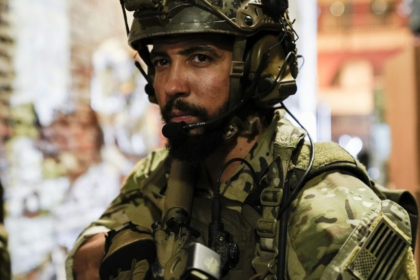 """All That Matters"" -- Bravo Team is in Mumbai to rescue a U.S. Foreign Service officer being held hostage by radicals who attacked the city. Also, Jason reevaluates his parenting style and finds a way to connect with his kids, on SEAL TEAM, Wednesday, Oct. 24 (9:00-10:00 PM, ET/PT) on the CBS Television Network. Pictured: Neil Brown Jr. as Ray Perry. Photo: Erik Voake/CBS ©2018 CBS Broadcasting, Inc. All Rights Reserved"