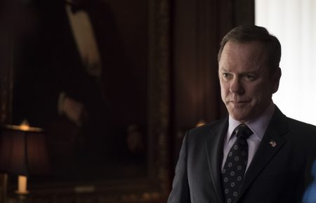 "DESIGNATED SURVIVOR - ""Bad Reception"" - President Kirkman negotiates with a foreign government to release an American held overseas, while attorney Ethan West (Michael J. Fox) continues his investigation, on ABC's ""Designated Survivor,"" WEDNESDAY, MAY 2 (10:00-11:00 p.m. EDT), on The ABC Television Network. (ABC/Ben Mark Holzberg) KIEFER SUTHERLAND"