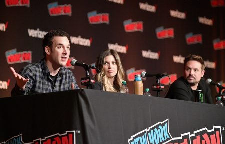 NEW YORK, NY - OCTOBER 05: (L-R) Ben Savage, Danielle Fishel, and Will Friedle speak onstage at the Boy Meets World 25th Anniversary Reunion panel during New York Comic Con 2018 at Jacob K. Javits Convention Center on October 5, 2018 in New York City. (Photo by Dia Dipasupil/Getty Images for New York Comic Con)