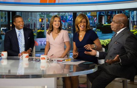 TODAY -- Pictured: Craig Melvin, Savannah Guthrie, Hoda Kotb and Al Roker on Thursday, October 25, 2018 -- (Photo by: Nathan Congleton/NBC)