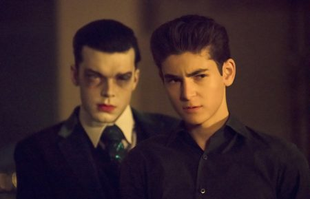 GOTHAM: L-R: Guest star Cameron Monaghan and David Mazouz in the ÒA Dark Knight: No ManÕs LandÓ season finale episode of GOTHAM airing Thursday, May 17 (8:00-9:00 PM ET/PT) on FOX. ©2018 Fox Broadcasting Co. Cr: Giovanni Rufino / FOX