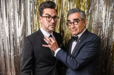 'Schitt's Creek' Holiday Special: Daniel & Eugene Levy Tease a Rose Family Flashback