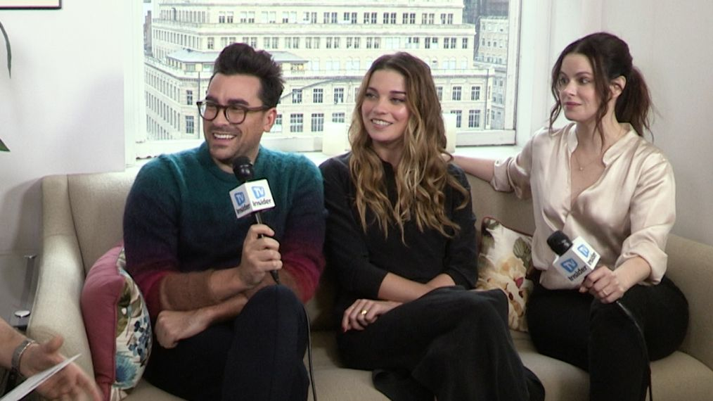 'Schitt's Creek' Cast Talks David & Patrick and Do Their Best Moira Rose Impressions (VIDEO)