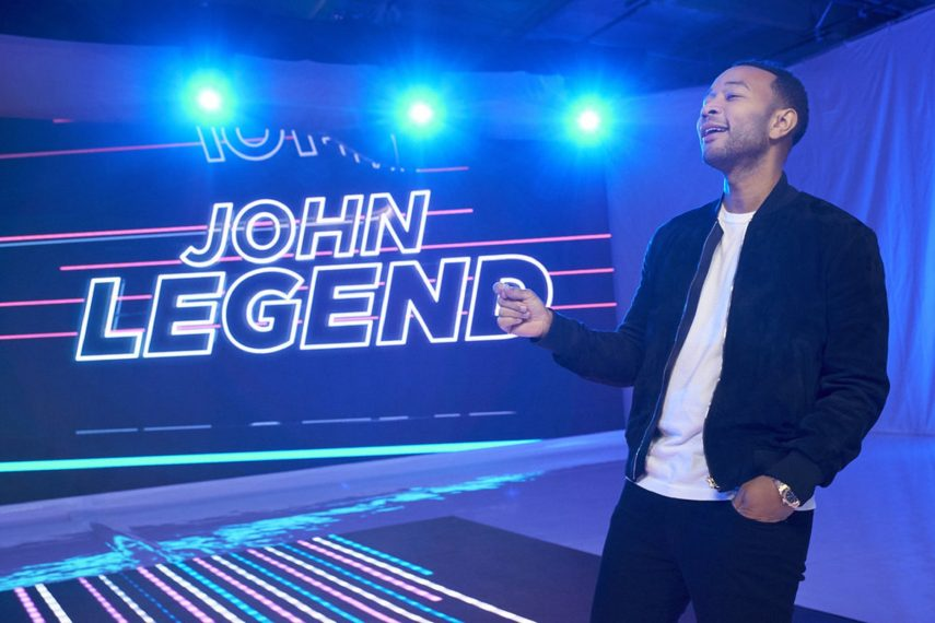 First Look: 'The Voice' Coaches Welcome John Legend to