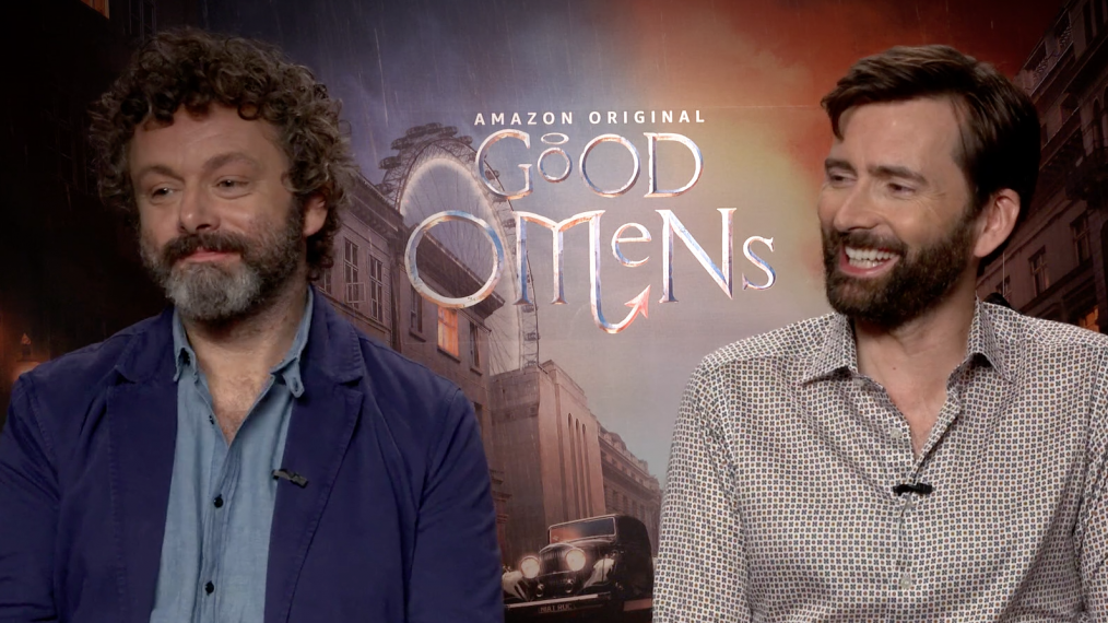 'Good Omens' David Tennant & Michael Sheen Tease the 'Bonkers' Series (VIDEO)