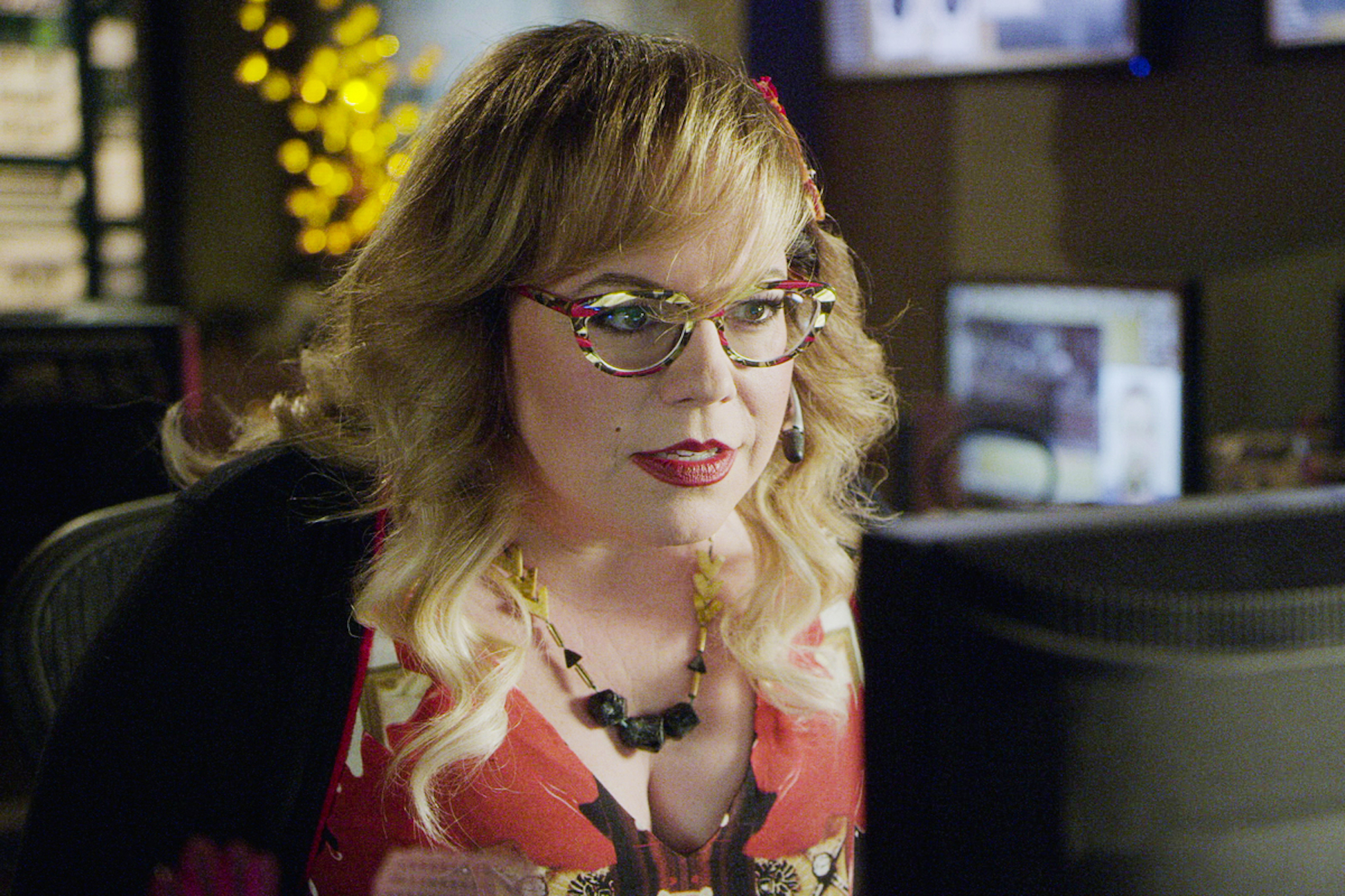Kirsten Vangsness Criminal Minds Season 15 Garcia Office