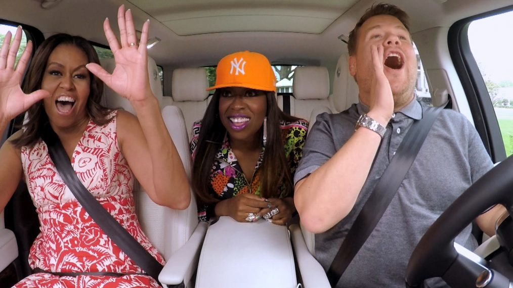 Michelle Obama James Corden Missy Elliot Carpool Karaoke