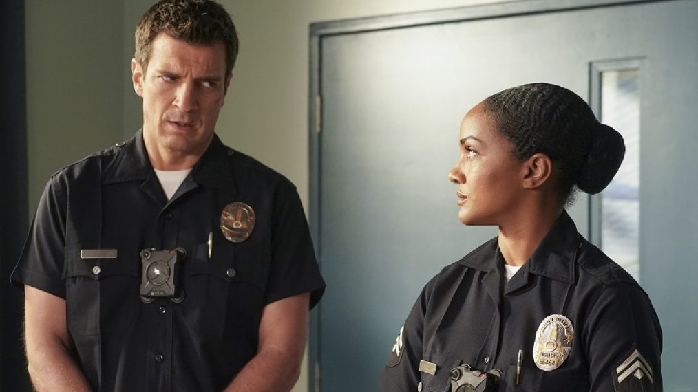ROOKIE DAY OF DEATH NATHAN FILLION MEKIA COX ABC TALKING